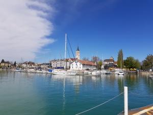 Hafen von Romanshorn in der Schweiz